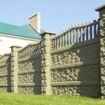 3.Декоративный забор с наборными столбами