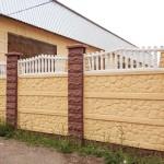 7.Декоративный забор с наборными столбами