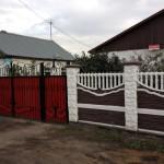 2.Декоративный забор с наборными столбами