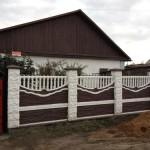 4.Декоративный забор с наборными столбами